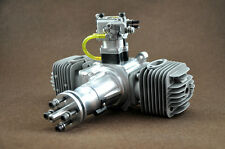 DLA64 64cc Gas Engine For RC Airplane W/Twin  Igniton & Muffler Aviation Alumin