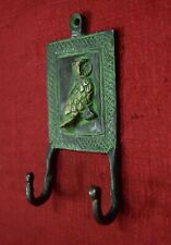 Owl Design Wall Decorative Hanging Hooks Brass Handmade Home Door Hanger VR295