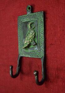 Owl Design Wall Decorative Hanging Hooks Brass Handmade Home Door Hanger VR295