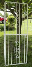"Vintage Wrought Iron Security Door Garden ally way 30"" opening Lockable Ornate"