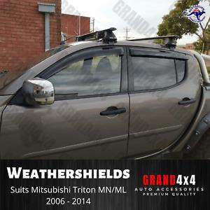 Premium Weathershields Window Visors for Mitsubishi Triton MN/ML 2006-2014