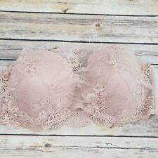 Nu Bra Lace Front Sticky Side Strapless Nude Color Womens XL