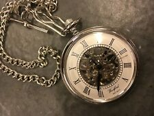 Woodford Mechanical Jewel movement  Pocket watch with chain and Free engraving