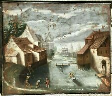 Late 16th Century Old Master of Fisherman in a Townscape