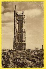 cpa Généalogie PARIS Tour St Jacques Adréssée à MAURICE BRINGER de MARVEJOLS