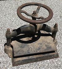 Vintage Antique Industrial Cast Iron Book Binding Press Heavy Printing