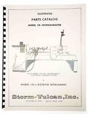 Parts Manual Storm Vulcan 130 Journal Master Automatic Welding Fixture
