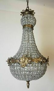 Small Empire Style Chandelier; Rewired and Restored. FREE DELIVERY
