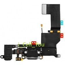 Black Headphone Audio Charger Charging Data USB Dock Port Flex Cable iPhone 5S