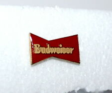 Vintage 1980s Classic Red Bow Tie Budweiser Beer Advertising Pin New NOS