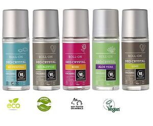 URTEKRAM ORGANIC DEODORANTS 50ml - ECOCERT, VEGAN, NO ANIMAL CRUELTY