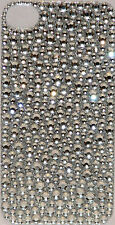 Iphone 4 4S Silver Bling Crystal Rhinestone Decal Sticker Vinyl Skin