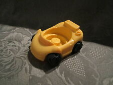 Fisher Price Little People Garage house city vehicle replacement yellow  car toy
