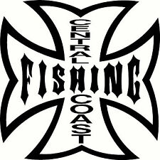 Central Coast Fishing,  Tacklebox, Boat Sticker Decal