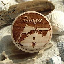 Möbelknauf Zingst Gravur Darß Ostsee Holz natur Möbelknöpfe