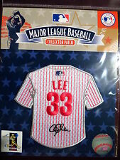 MLB Philadelphia Phillies Cliff Lee Facsimile Autograph Mini-Jersey Patch