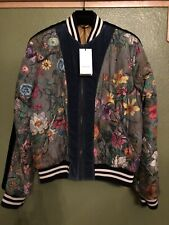 100% Authentic Gucci Flora Snake Print Quilted Silk Bomber Jacket $3300+Tax