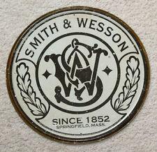 SMITH & WESSON Metal Revolver Gun Ammo Rifle Pistol Safe Man Cave Ammunition Dad