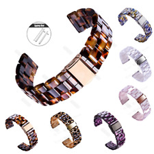 20 22mm Tortoise Shell Resin Watch Band Strap Bracelet For Fossil Q Smart Watch