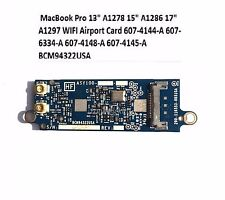 MACBOOK PRO UNIBODY A1278 A1286 A1297 WIFI AIRPORT CARD BCM94322USA  607-4144-A