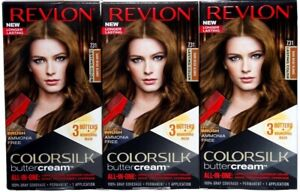 (3) Revlon Colorsilk Buttercream Permanent Haircolor 731 Dark Beige Blonde