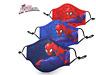 Masque protection enfant Spiderman tissu lavable coton réutilisable bleu - rouge