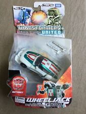 Transformers United Deluxe WHEELJACK Autobot Super Race Car RARE Takar Tomy