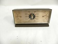Vintage Honeywell Desk Weather Station Barometer Thermometer (A5)