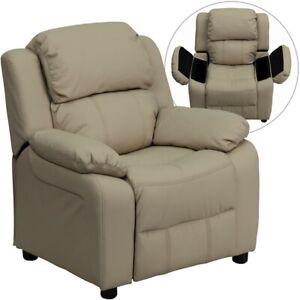 Flash Furniture Beige Kids Recliner, Beige - BT-7985-KID-BGE-GG