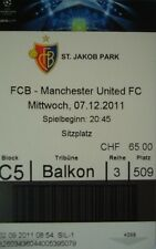 Ticket UEFA CL 2011/12 FC Basel-Manchester United