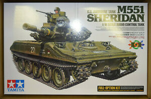 Tamiya US Airborne M551 Sheridan Full Option 1/16 RC Tank Kit 56043