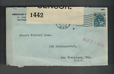 1916 Netherlands Commercial Censored Cover to USA San Francisco