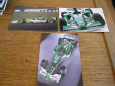 "GROUP OF 3  JAGUAR F1, FACTORY ISSUED POSTCARDS ""BROCHURE"""