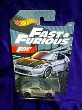 Hot Wheels Fast & Furious Nissan 370Z Fast Five #5/6 Silver Die-Cast 1:64 Scale