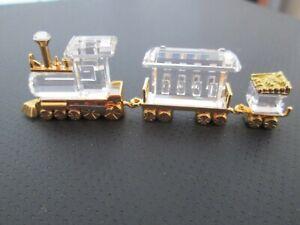 Swarovski Auflösung Swarovski Figur Crystal memories Zug mit 2 Waggons