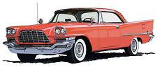 Chrysler 1957 300C canvas print by Richard Browne 300-C