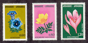 Andorra-French - 1975 - SC 238-40 - VLH - Complete set - Flowers