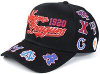 NLBM Negro Leagues Commemorative Cap Multi Logos Black
