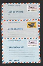 K03 - France 3 unused aerogrammes