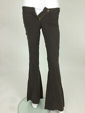 Miss Sixty New Women's Tess Trousers Size 23 Color Brown 100% LIN!
