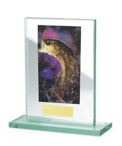 Glas-Pokal mit farbigem Hologramm (WH511-Angeln) inkl. Gravur nur 17,75 EUR