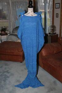 Aqua Mermaid TV Snuggle Blanket For Kids and Adults