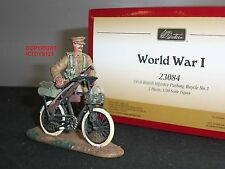 BRITAINS 23084 WORLD WAR ONE 1914 BRITISH INFANTRY PUSHING BICYCLE TOY SOLDIER