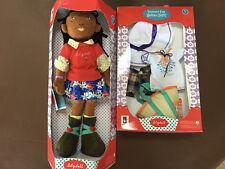 "Manhattan Toys LilyDoll Isa Black African American 18"" Doll & Summer Fun Outfit"