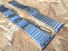 Stainless Steel 316L Link Bracelet Butterfly Lock Watch Strap For Apple Watch 42
