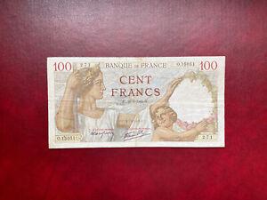 France billet 100 francs Sully RADAR 26.09.1940  O.15051