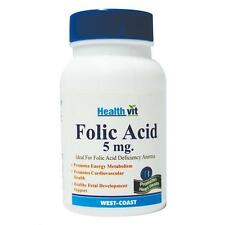 Low Cost Healthvit Folic Acid 5 mg 60 Tablets Fetal develop health
