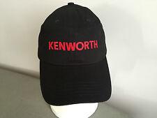 BNWT Genuine Kenworth Merchandise Black Pure Cotton Kenworth Logo Peak Adult Cap