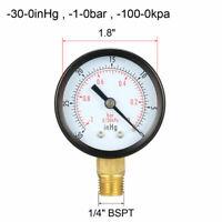 "Haenni 1//4/"" NPT Dry SS Bourdon Tube Pressure Gauge DR63-411-211-31L"