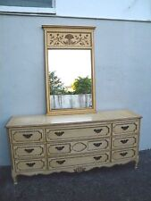 French Provincial Painted Dresser with Mirror by Baker 2788